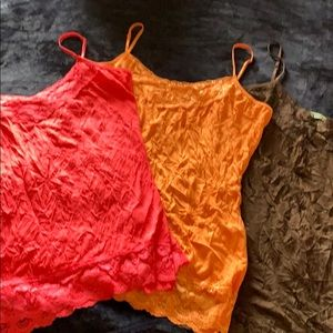 Maurices Bundle of Lace Cami's Size XL